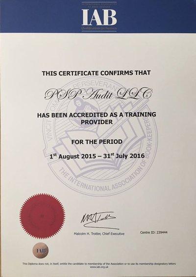 PSP Audit - единственный аккредитованный в Украине Консультационный и Экзаменационный центр Международной Ассоциации Бухгалтеров - IAB